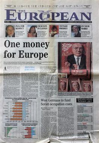 The European (newspaper) - Front page of the first issue