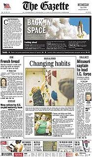 <i>The Gazette</i> (Cedar Rapids) daily newspaper in Cedar Rapids, Iowa
