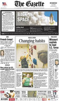 The Gazette (Cedar Rapids) front page.jpg