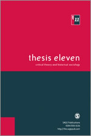 Thesis Eleven - Image: Thesis Eleven Journal Front Cover