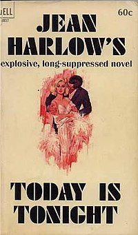Today is Tonight (Jean Harlow novel) cover.jpg
