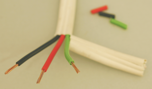 Thermoplastic-sheathed cable - Image: Tps 3core