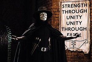 V (comics) - Hugo Weaving as V, as he appears in the film.
