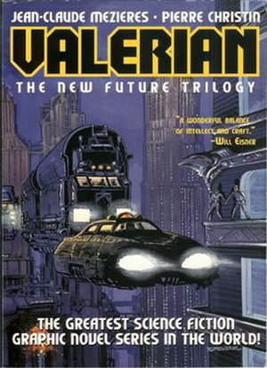 """On the Frontiers - Cover to """"Valerian: The New Future Trilogy"""", iBooks, 2002"""