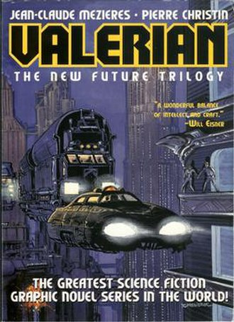Valérian and Laureline - Cover of Valerian: The New Future Trilogy.