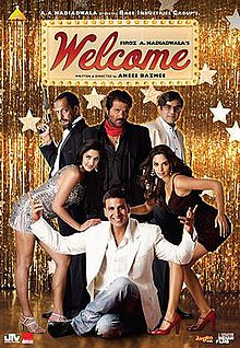 The poster features entire ensembled star-cast. The film title appears at top.