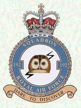 No. 192 Squadron RAF - Official squadron crest for No. 192 Squadron RAF