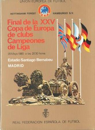 1980 European Cup Final - Image: 1980 European Cup Final programme