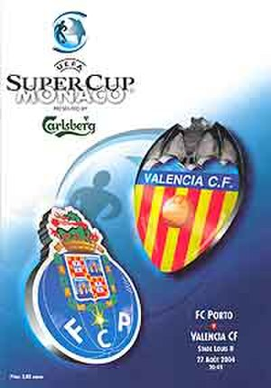 2004 UEFA Super Cup - Match programme cover