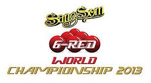 2013 Six-red World Championship - Image: 2013 Six red World Championship logo