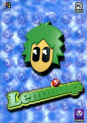 3D Lemmings - MS-DOS Cover art