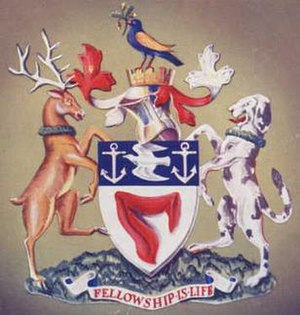 Municipal Borough of Walthamstow - Coat of arms of the borough council