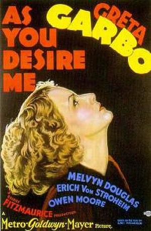 As You Desire Me (film) - Original film poster