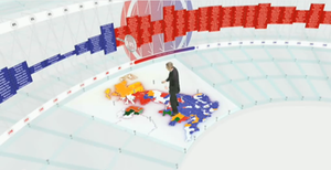 Swingometer - The redesigned swingometer, first used for the 2010 general election