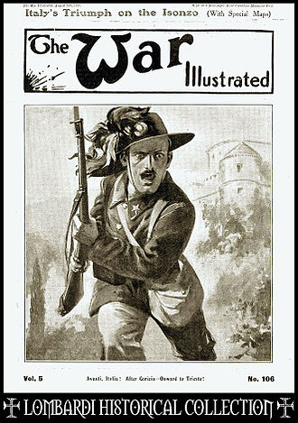 Bersaglieri - 'AVANTI ITALIA!': The War Illustrated, Vol.5, No.106, Aug., 1916