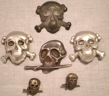 Black Brigades Skull Insignias