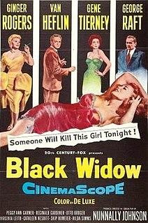 <i>Black Widow</i> (1954 film) 1954 color mystery film directed by Nunnally Johnson