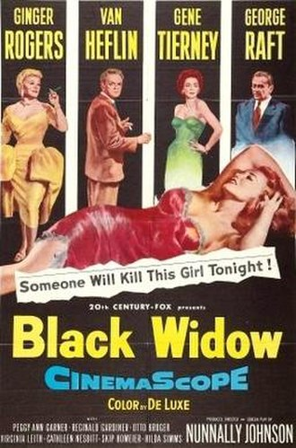 Black Widow (1954 film) - Theatrical release poster