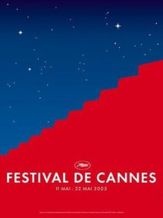 2005 Cannes Film Festival - Official poster of the 58th Cannes Film Festival featuring an original illustration by Frédéric Menant and Tim Garcia.