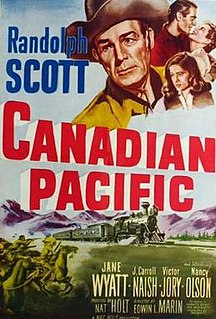 <i>Canadian Pacific</i> (film) 1949 historical Western film directed by Edwin L. Marin