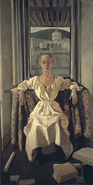 Felice Casorati - Silvana Cenni by Felice Casorati, 1922, tempera on canvas, 205 x 105 cm