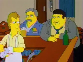 Cheers - Woody, Cliff, and Norm on The Simpsons