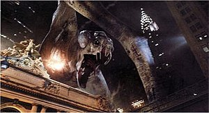 Clover (creature) - The giant monster is seen destroying New York City