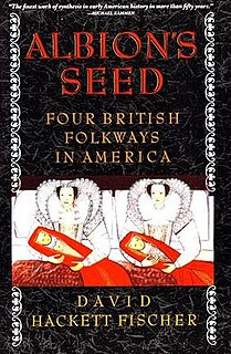 <i>Albions Seed</i> book by David Hackett Fischer