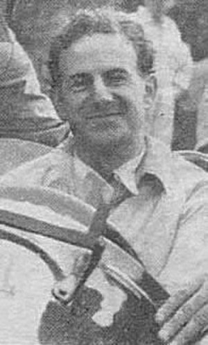 Dennis Poore - Poore sitting at the wheel of an historic hillclimb car