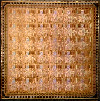 Asynchronous array of simple processors - Die photograph of the first generation 36-processor AsAP chip