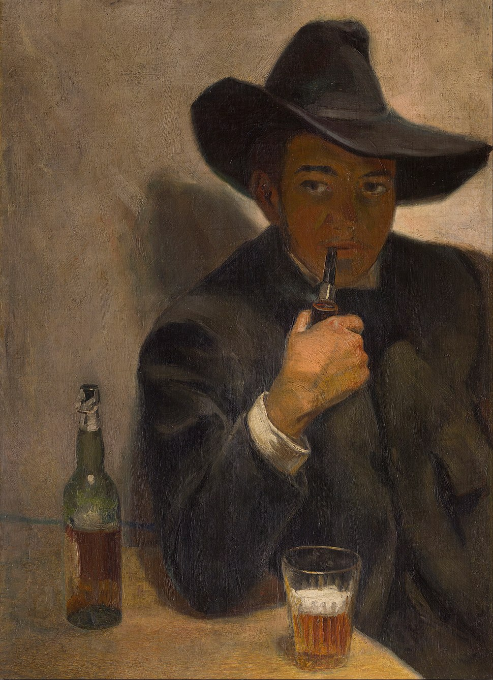 Diego Rivera - Self-portrait with Broad-Brimmed Hat - Google Art Project
