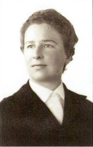 Elisabeth Dhanens - Art historian Elisabeth Dhanens as a young woman