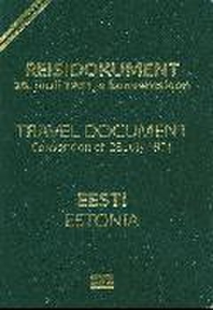 Estonian travel document for refugees - Cover of a biometric Estonian travel document for refugees