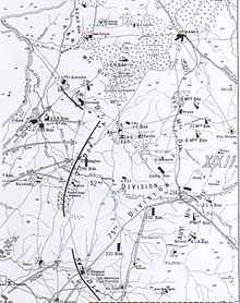 Detail of Falls Map 9 shows the British Empire forces as they approach Junction Station; infantry from the west and Australian Mounted Division from the south.