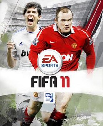 FIFA 11 - UK cover featuring Kaká and Wayne Rooney