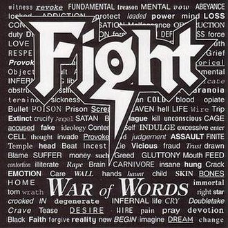 War of Words (Fight album) - Image: Fight War of Words