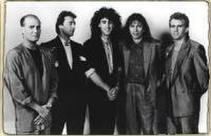 GTR (band) - GTR, 1986.  L-R: Phil Spalding, Steve Hackett, Jonathan Mover, Steve Howe, and Max Bacon.