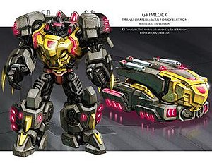 Grimlock - Grimlock concept art from the DS War For Cybertron game.