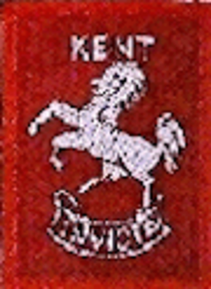 Scouting in South East England - County badge as worn on the uniform of Scouting members in Kent