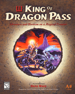 "The box of ""King of Dragon Pass""."