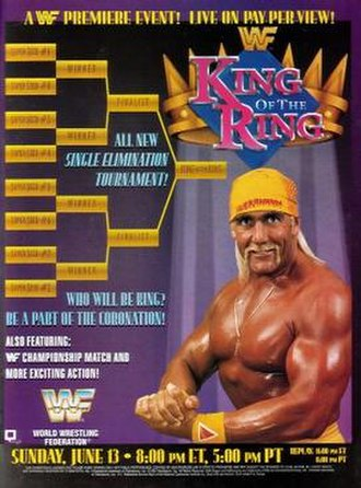 King of the Ring (1993) - Promotional poster featuring Hulk Hogan