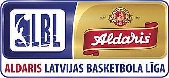 Latvijas Basketbola līga - Image: LBL aldaris logo (horizontal)