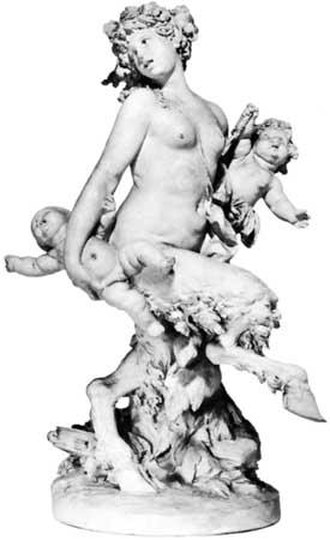 Satyress - A satyress holding two infants, by Clodion (Walters Art Museum, Baltimore)