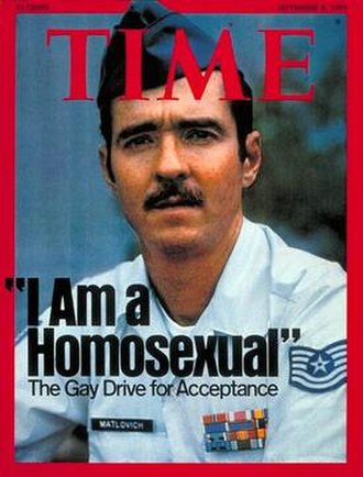 Coming out - Leonard Matlovich on the cover of Time magazine, 1975