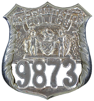 NYC Sanitation Police Badge