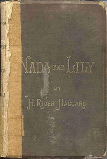 <i>Nada the Lily</i> book by Henry Rider Haggard