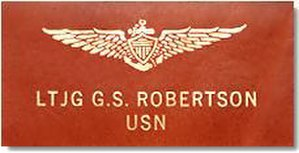 "United States Naval Aviator - Leather naval aviator ""soft patch"" worn on flight suits and flight jackets."