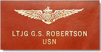 """United States Naval Aviator - Leather naval aviator """"soft patch"""" worn on flight suits and flight jackets."""