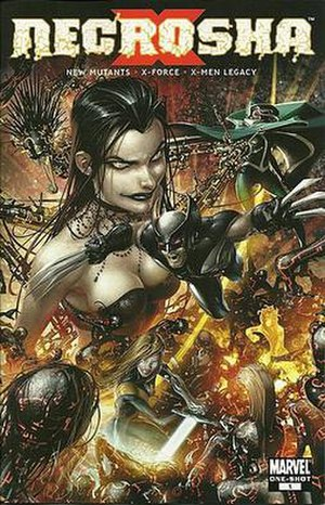 Necrosha - Cover to Necrosha One Shot. Art by Clayton Crain