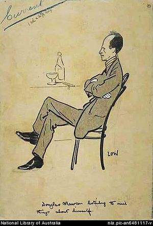 Douglas Mawson - Caricature by Sir David Low